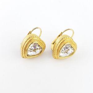 Vintage Carolee Earrings Hearts Rhinestones
